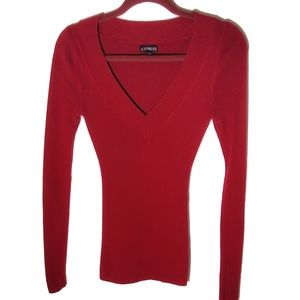 Express sweater top size x small burgundy